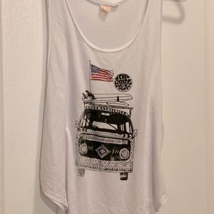 Rip curl tank top with the van and surf boards
